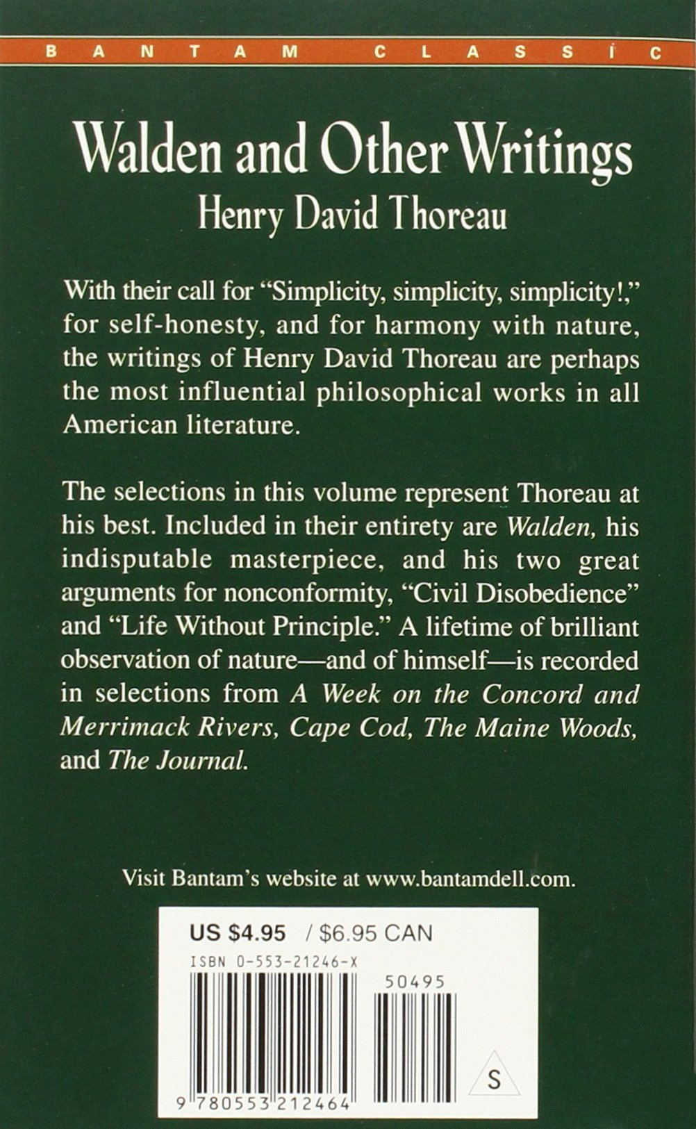 walden and other writings henry david thoreau  walden and other writings henry david thoreau 9780553212464 american literature amazon