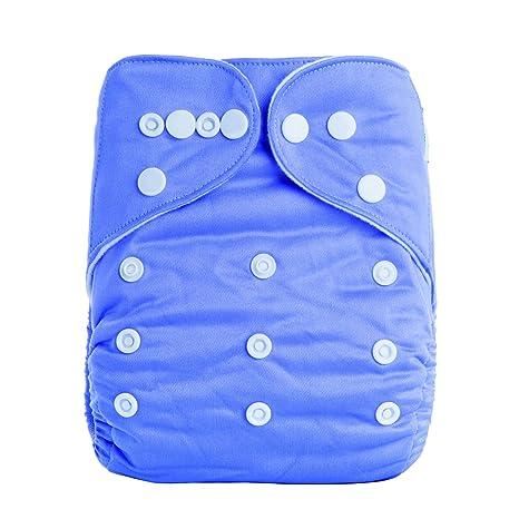 ananbaby transpirable paño pañal reutilizable color sólido bebé pañales talla única se utiliza para 0 - 3 años A-Series plateado A16: Amazon.es: Bebé