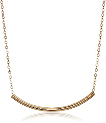 Amazoncom Trendy Gold Wide Plate Fashion Chain Necklace 18 Gold