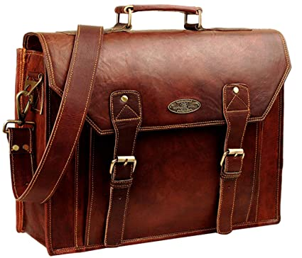 Image Unavailable. Image not available for. Color  Leather Messenger Laptop  Bag Briefcases for Men and Women ... 16779d31a41eb