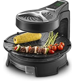Gourmia GHG1600 Digital Halogen Powered Rotating Grill With LCD Touch Time  U0026 Temperature Control Display,