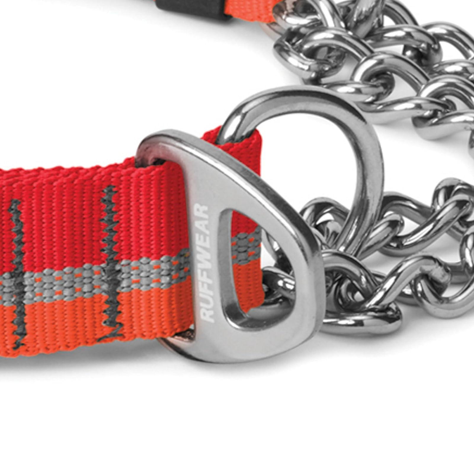 RUFFWEAR Chain Reaction Collar Medium Kokanee Red - 3