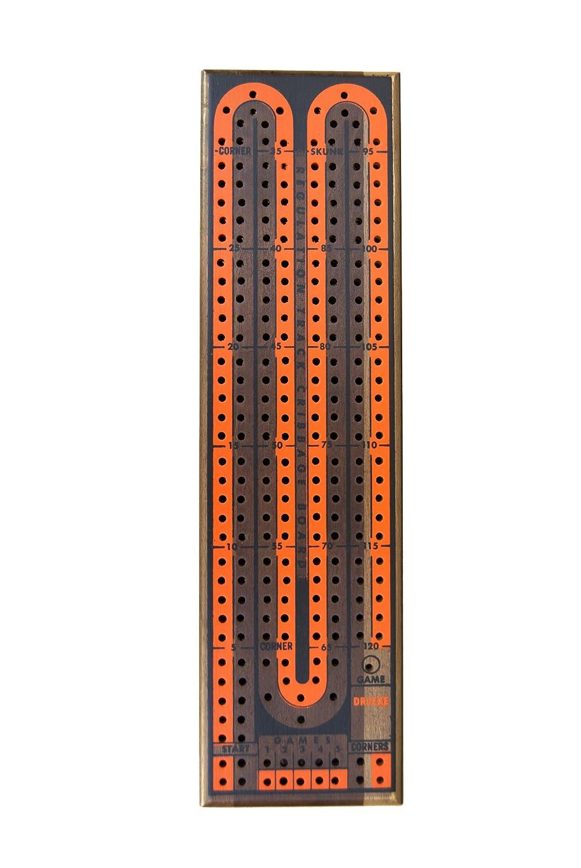 Drueke Deluxe Walnut 2-Track Cribbage Board