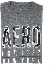 Aeropostale Mens Crew Neck Front Logo T Shirt