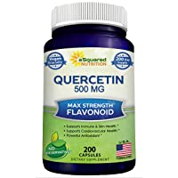 Quercetin 500mg Supplement - 200 Capsules - Quercetin Dihydrate to Support Cardiovascular...