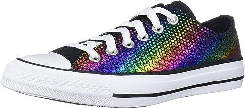 Star Rainbow Foil Print Low Top Sneaker