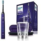 Philips Sonicare DiamondClean Neue Generation Elektrische Zahnbürste mit Schalltechnologie HX9379/89, Ladeglas, violett