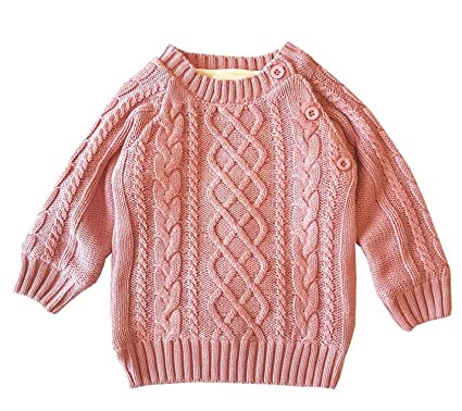 Amazon.com Huainsta Knitted Sweater Kids Long Sleeve Casual