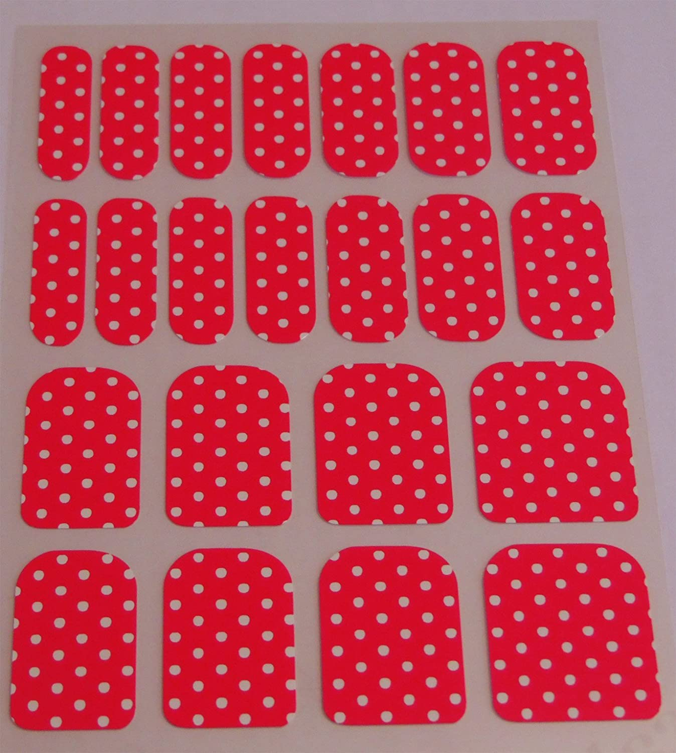 Chix Nails Polka Dot Minx Trendy Style Fingers Toes Vinyl Foils Nail Wraps, Silver on Blue Pd8