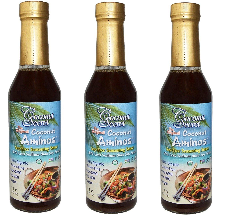 Coconut Secret Coconut Aminos Sauce Organic 8 oz (3 Pack)
