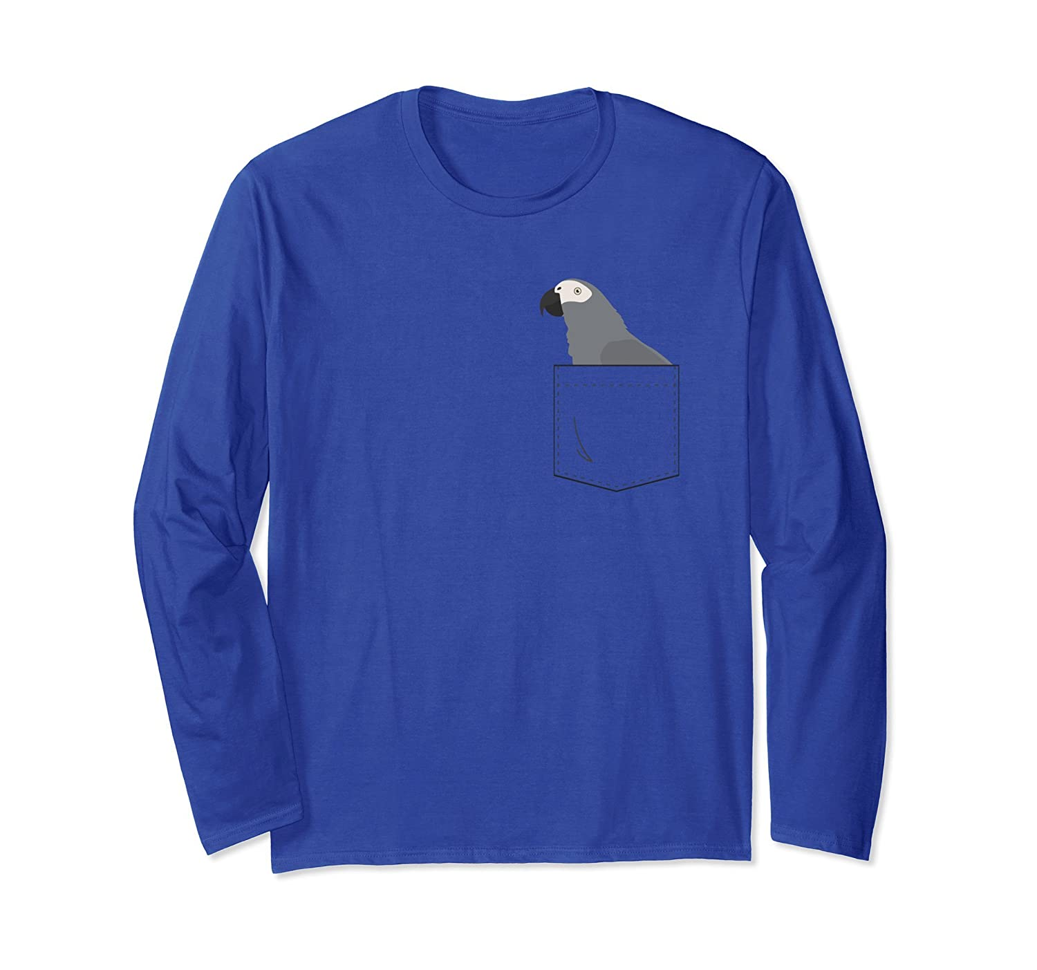 African Grey Parrot In Your Front Pocket Long Sleeve T-Shirt-ANZ