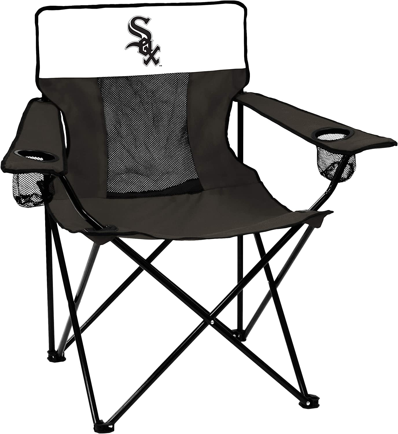 Logo Brands MLB Chicago White Sox Elite Chair, Team Color, One Size