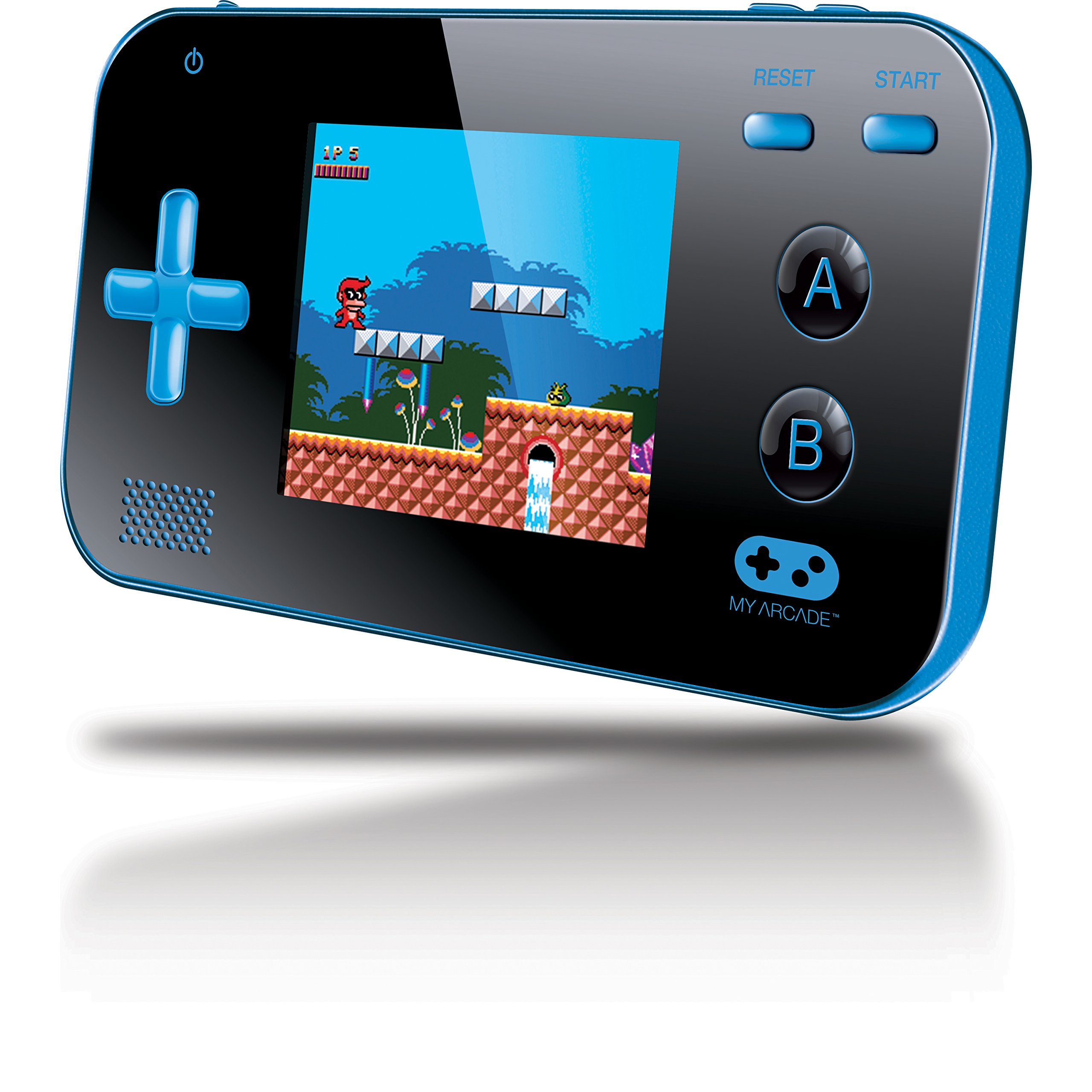 My Arcade Gamer V Portable Gaming System - 220 Built-in Retro Style Games and 2.4'' LCD Screen - Blue/Black