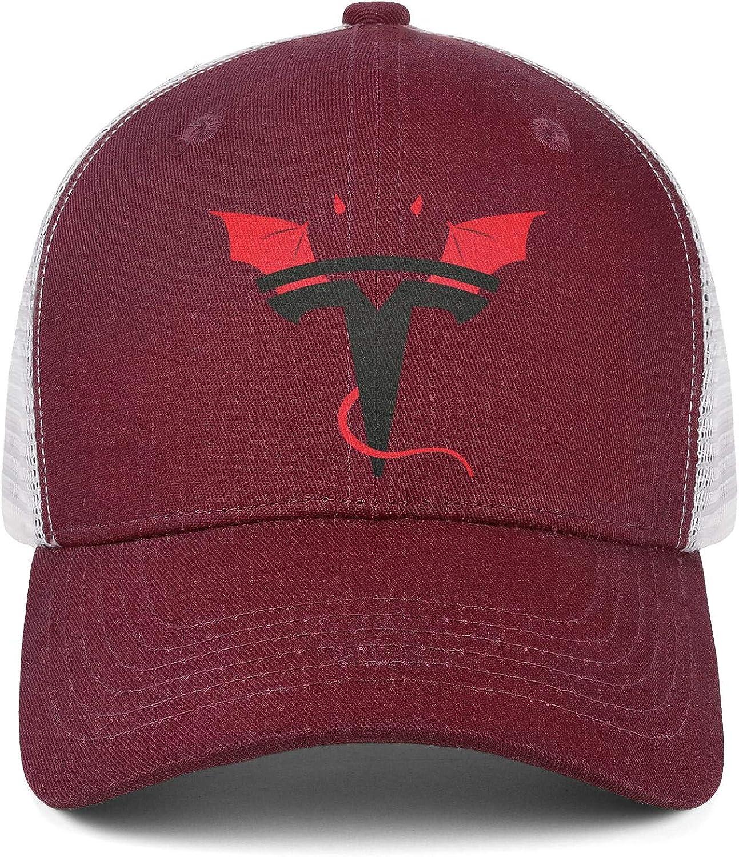 COOLGOOD Travel Mens Womens Mesh Back Ventilation Baseball Hat Tesla-Logo Fishing Hat