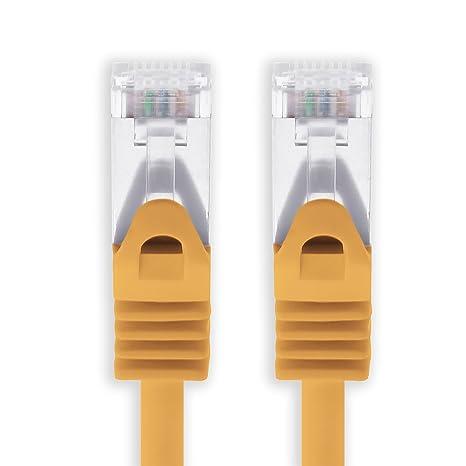 Cable Ethernet Cat7 Cat.7 Gigabit Cable de Red LAN con Conector Cat6a RJ45 (