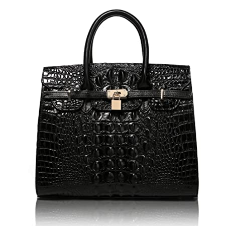Home Responsible Goog.yu Classy Crocodile Printing Male Genuine Leather Bag Fashion Embossing Designer Handbags High Quality Shoulder Bags