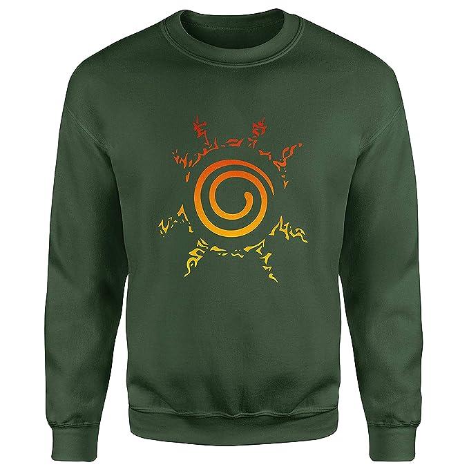 JEMASHOP Sudadera Verde Inspirada EN Naruto Seal Color Logo (XS-XXL)