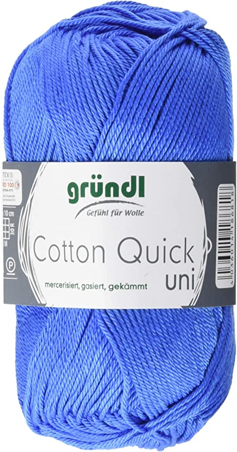 Gründl Cotton Quick Uni Ventaja, Pack 10 knäuel Mano de Lana, algodón, Azul Medio, 29 x 12 x 7 cm: Amazon.es: Hogar