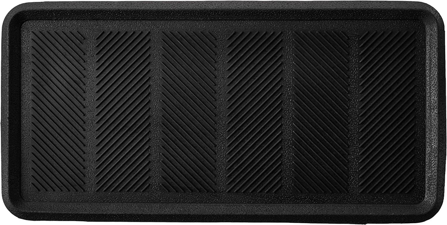 Kempf Rubber Boot Tray, 16 x 32 inch, Large, Heavy Duty, Multifunctional, Mat for Dog Bowls, Store Boots and Shoes