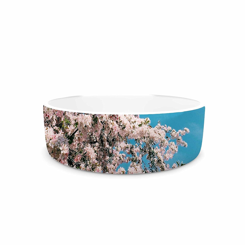 7\ KESS InHouse Chelsea Victoria Blossom Tree  bluee Pink Pet Bowl, 7