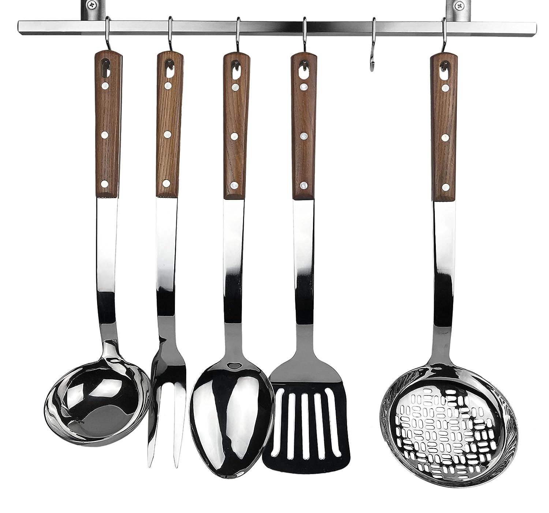 Amazon.com: Home Kitchen Utensils 5-Piece Set of Classic Designed ...