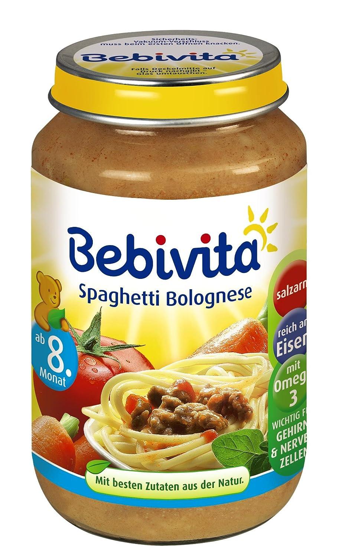 Bebivita Spaghetti Bolognese, 6er Pack (6 x 220 g) 535250 Menüs 220 g Komplettmahlzeit