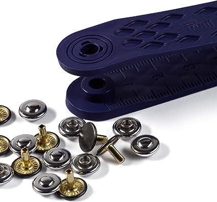 Black PRYM 21 mm 12 Set Brass Sew On Snap Fasteners 341137