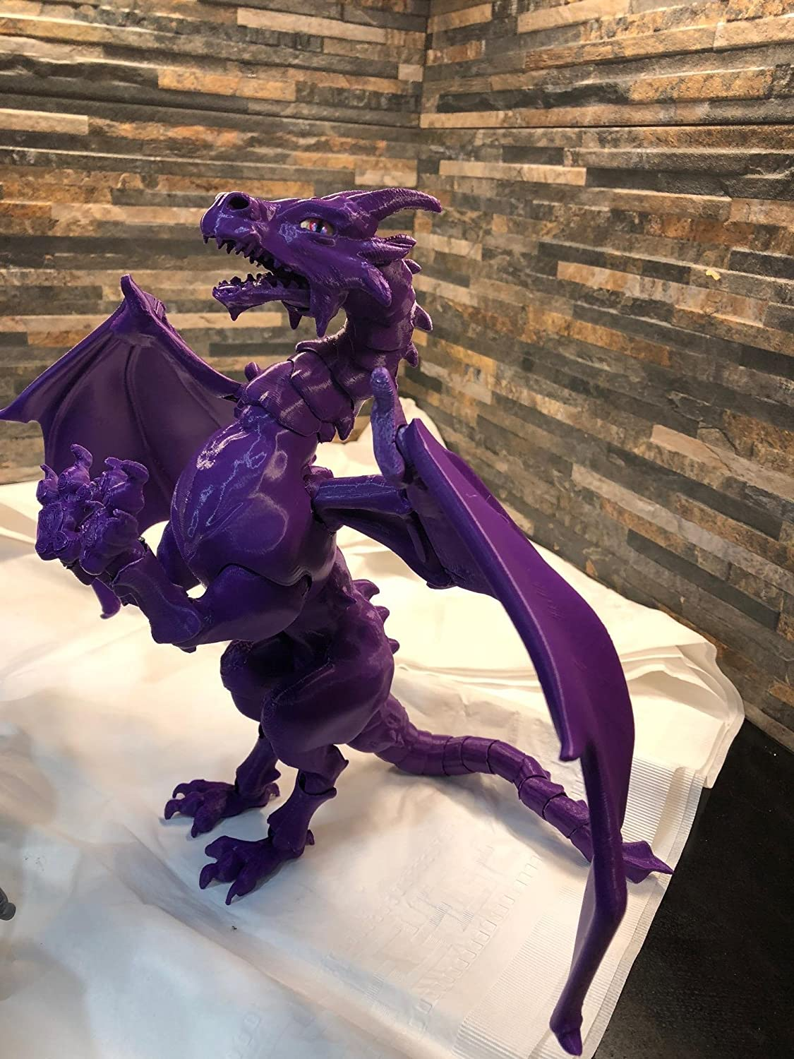 BJD Dragon Doll/Action Figure - Ball Jointed/ Articulated - 3D Printed, Assembled by Hand