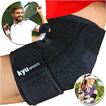 best KYUSport Adjustable Neoprene Tennis Golfers Elbow Brace Wrap Arm Support Strap Band reviews