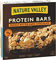 NATURE VALLEY Protein Bars Peanut Butter Dark Chocolate, 4-Count, 148 Gram