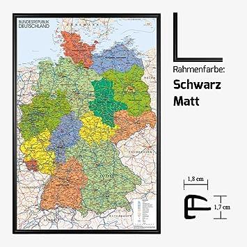 Kunstdruck Poster - Deutschland Germany Karte Map 61 x 91,50 cm mit ...