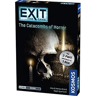 Exit: The Catacombs of Horror | Exit: The Game - A Kosmos Game from Thames & Kosmos | Card-Based, 2-Part at-Home Escape Room Experience for 1 to 4 Players, Ages 16+: Toys & Games