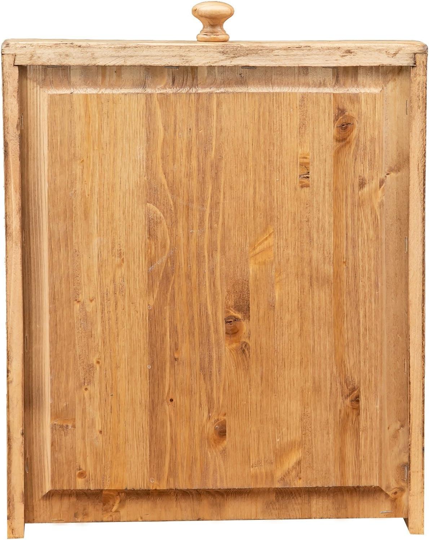 Stile Country Biscottini Tavolo Quadrato con cassetto In Legno Massello Di Tiglio Stile Shabby Struttura e Piano Naturale anticata L 120 x PR 80 x H 80 cm