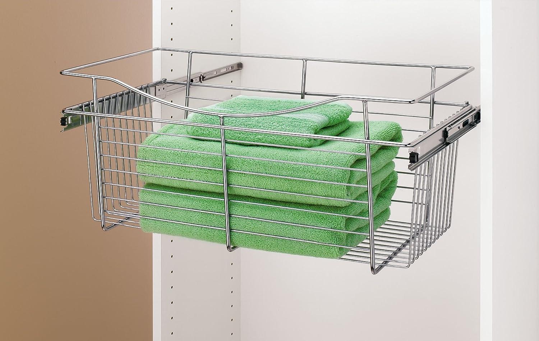 Amazon.com: Rev A Shelf   CB 181411CR 1   Chrome Closet Pull Out Basket:  Home U0026 Kitchen