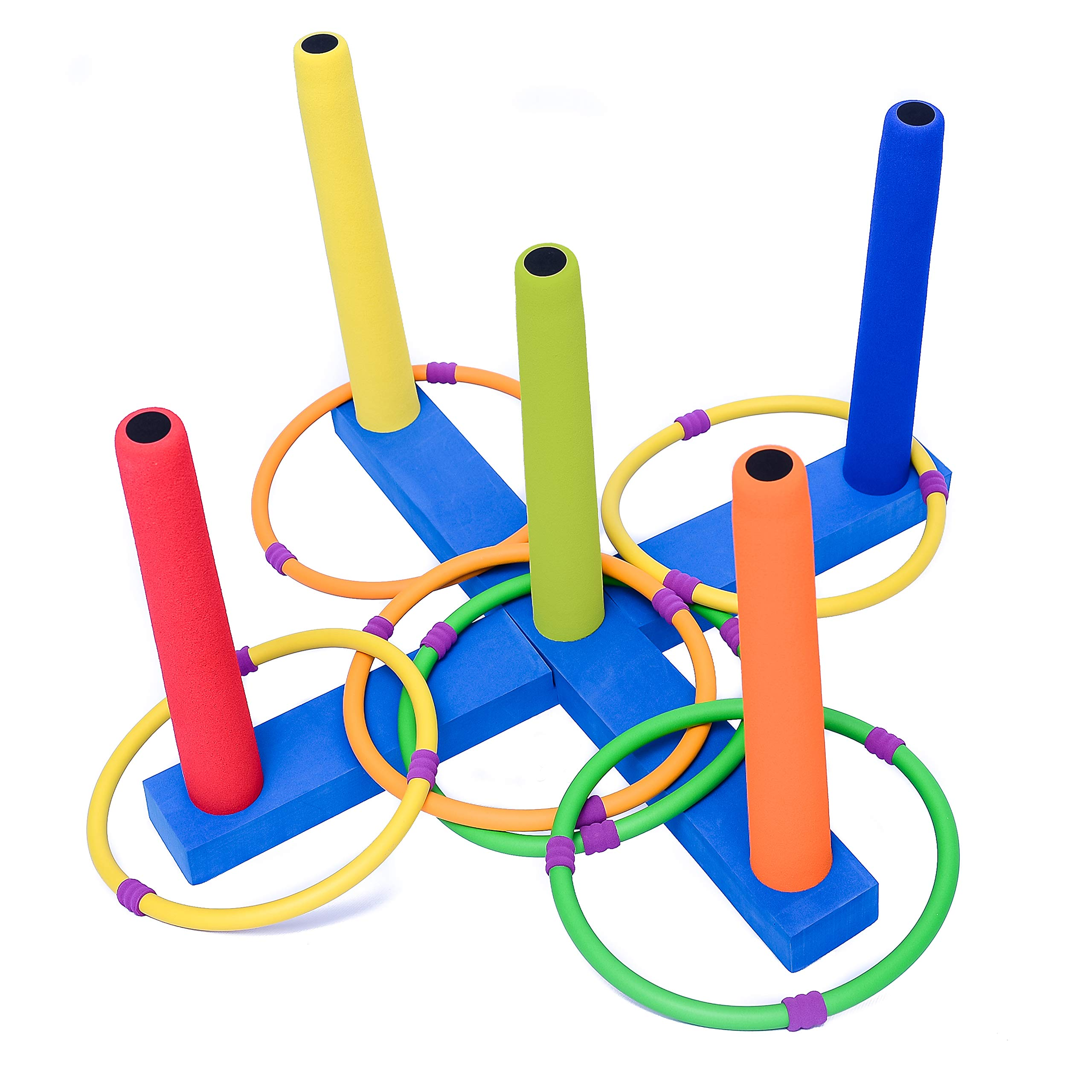Kiddie Play Ring Toss Game for Kids with 6 Rings by Kiddie Play