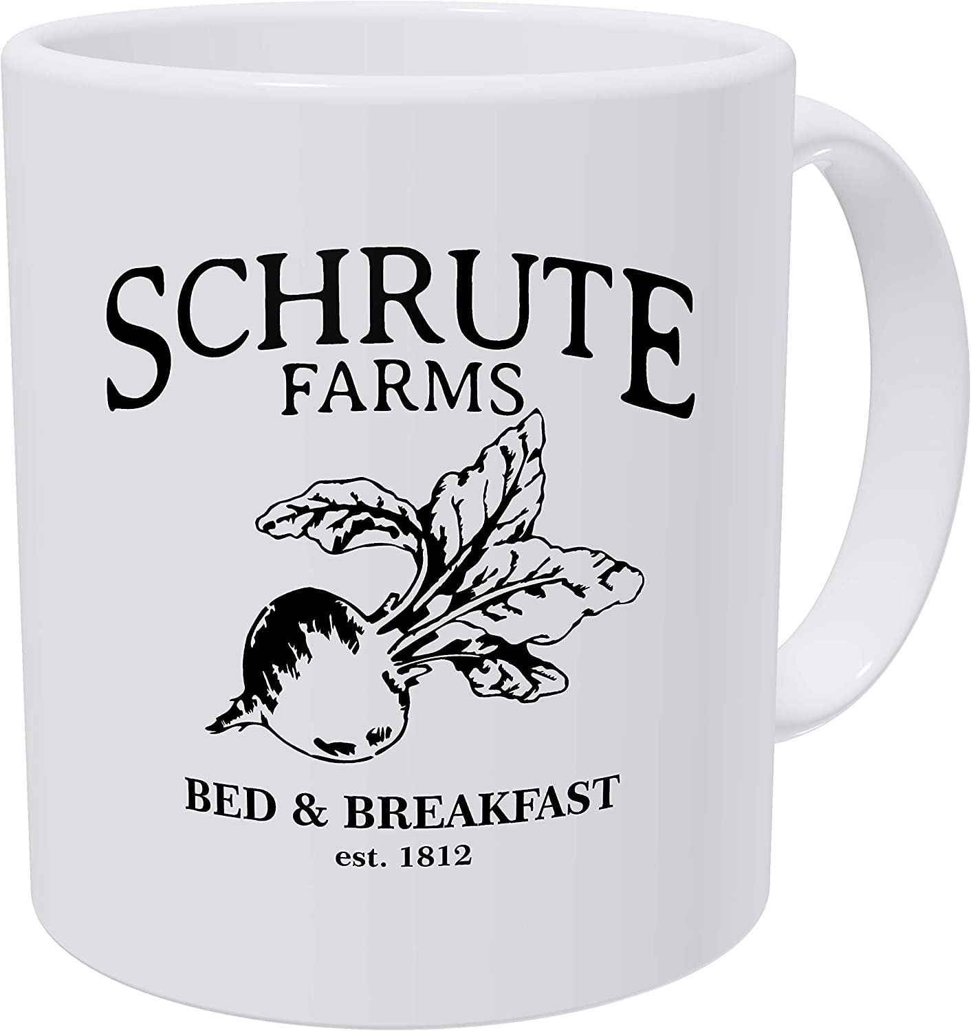 Grafeeks Schrute Farms, Bed And Breakfast Est. 1992, Office 11 Ounces Funny White Coffee Mug