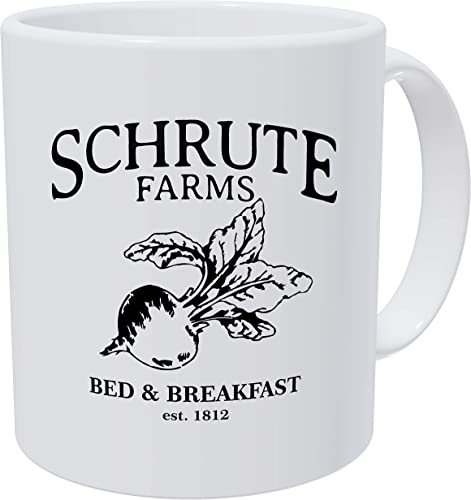 Grafeeks Schrute Farms, Bed And Breakfast Est. 1992, Funny White Coffee Mug