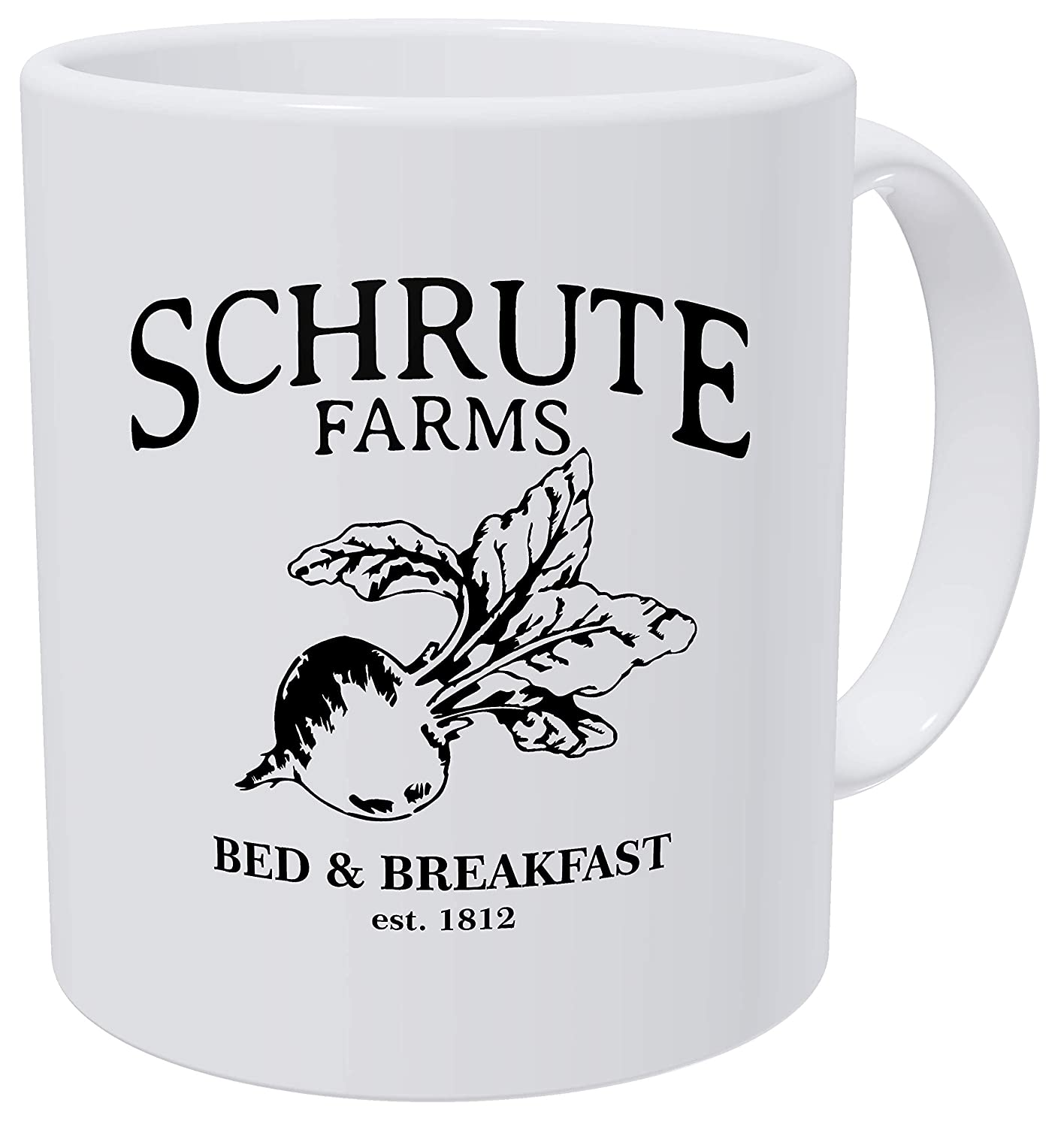 Bed And Breakfast Est Grafeeks Schrute Farms 1992 Office 11 Ounces Funny White Coffee Mug