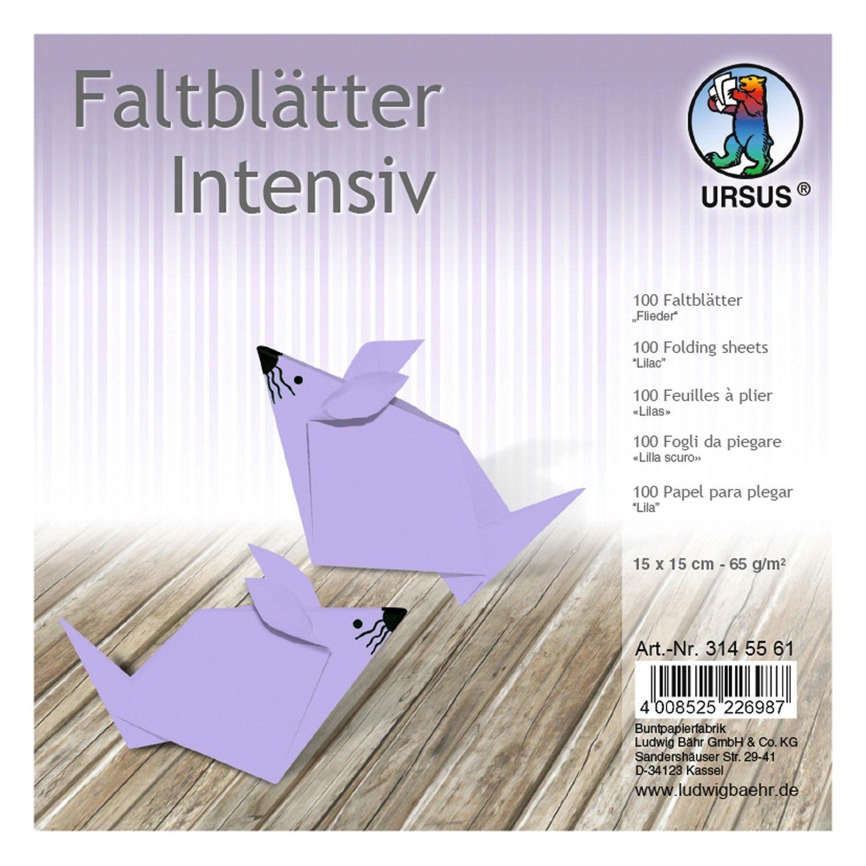 Faltbl/ätter Ursus 3146834 100 Blatt dunkelblau 10 x 10 cm