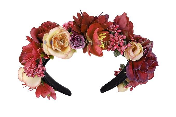 Blumen Haarreif Haarband Kranz Kommunion Hochzeit Dirndl Trachten
