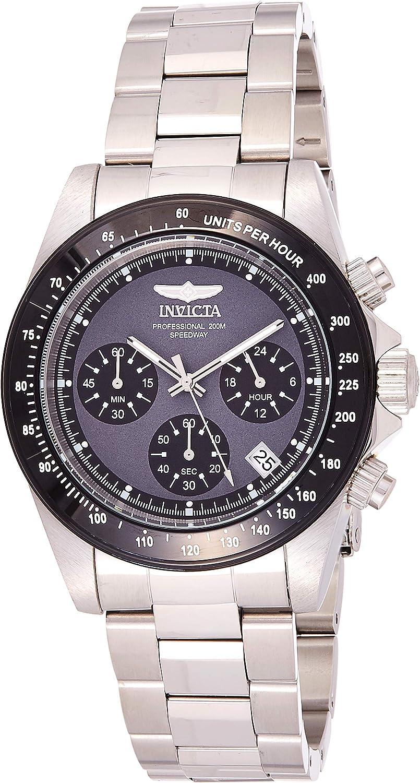 Invicta 23123 Speedway Reloj Unisex acero inoxidable Cuarzo Esfera gris