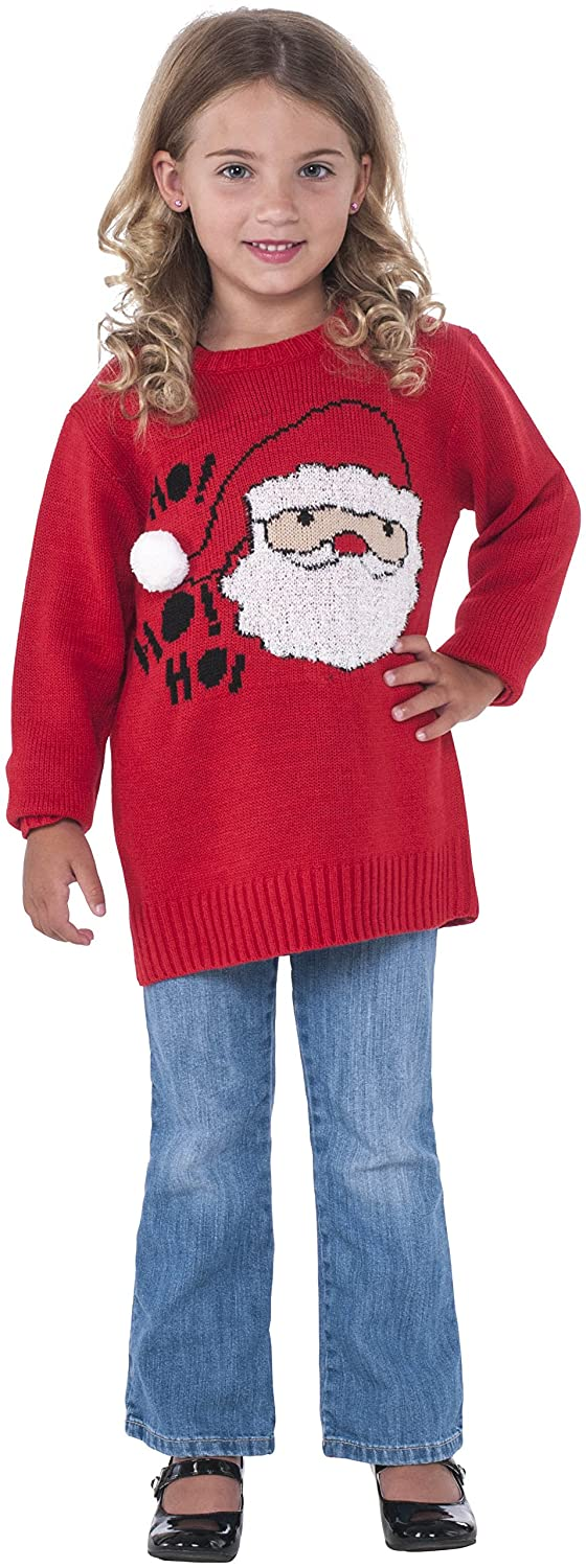 (Large, One Farbe) - Rubie's Costume Santa Ugly Christmas Sweater Costume, One Colour, Large