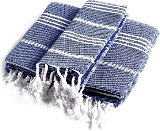 100/% Natural Cotton Traditional Peshkir /& Peshtemal for Bathroom Fast-Drying CACALA Pure Series Turkish Hand Towels Hypoallergenic Absorbent Ultra-Soft Kitchen and Baby Care