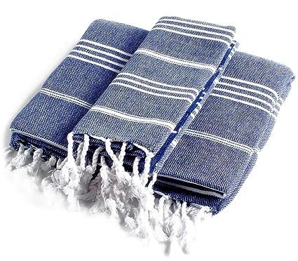 Cacala Pure serie baño turco y toalla de mano Set, 2 piezas, algodón,