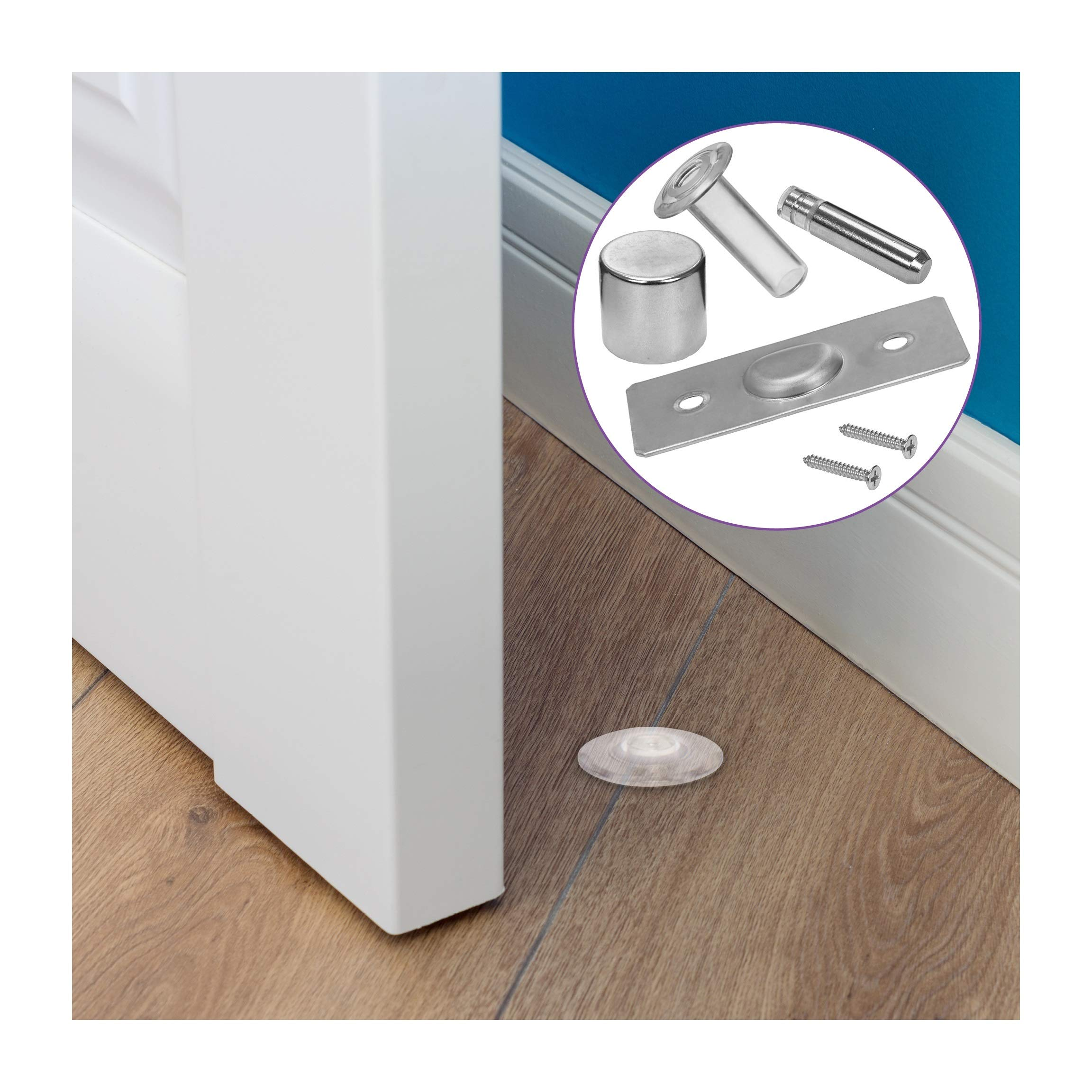Fantom Magnetic Door Stop - Heavy Duty Door Stopper - Easy to Install Door holder Doorstop for Your Home, Office, Business or School (Fantom Door Stop) by Fantom