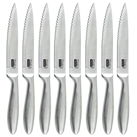 Amazon.com: Cook N Home 8-Piece de acero inoxidable cuchillo ...