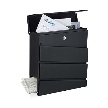 Briefkästen Design relaxdays briefkasten design modern mit zeitungsfach