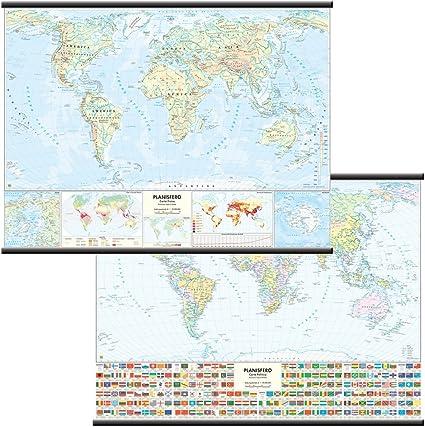 Carta Geografica Mondo Fisico//Politica