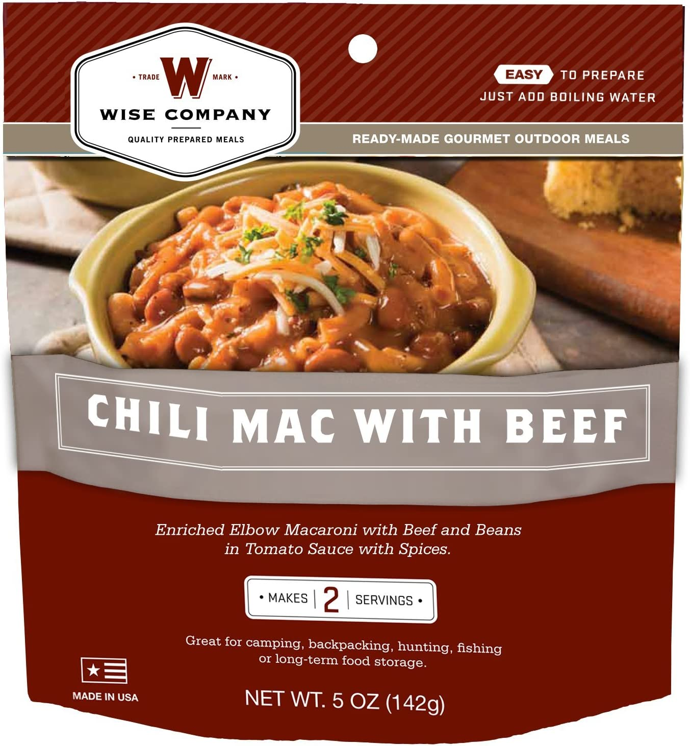 Wise Outdoor Chili Mac with Beef (5.8-Ounce)