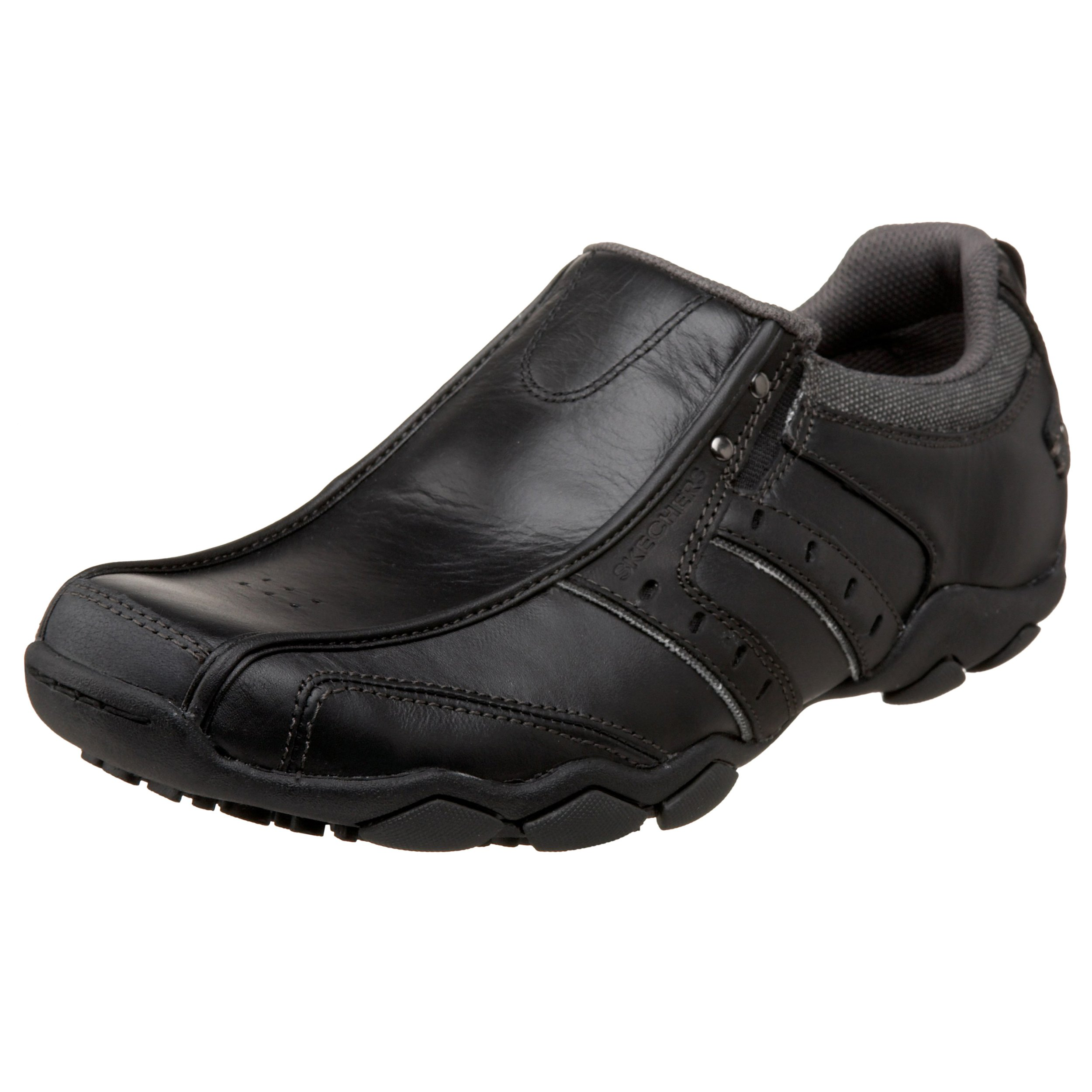 Skechers USA Men's Men's Relaxed Fit-Delson-Brewton Sneaker,11.5 M US,Black by Skechers
